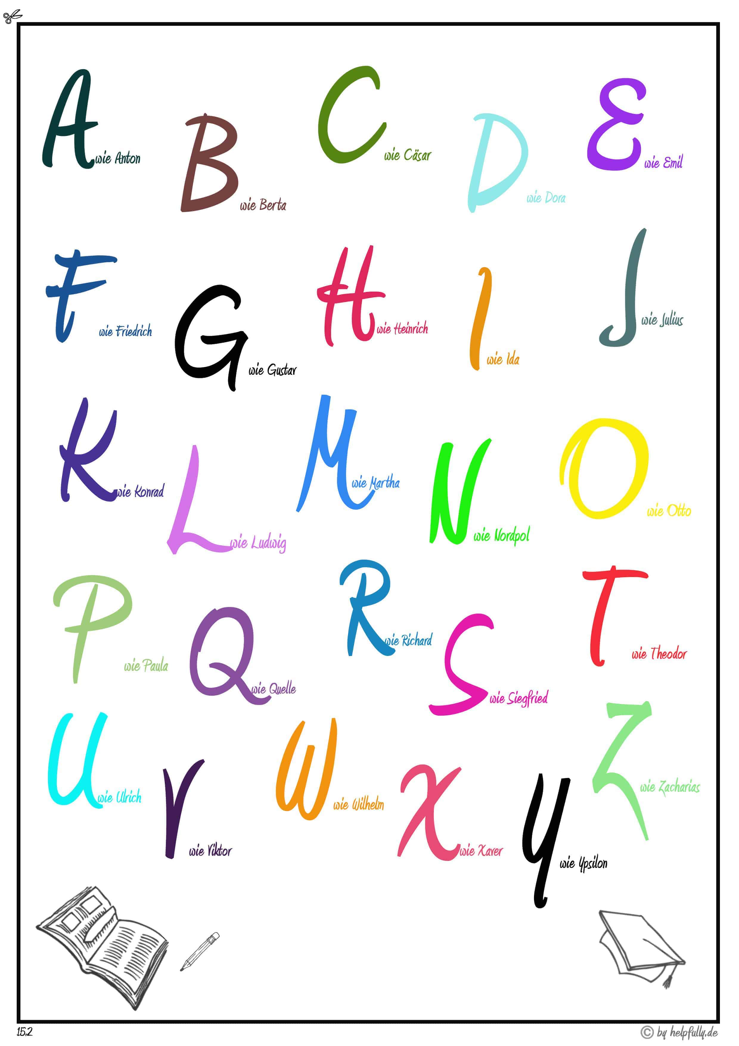 alphabet zum ausdrucken und ausschneiden  ausmalbilder