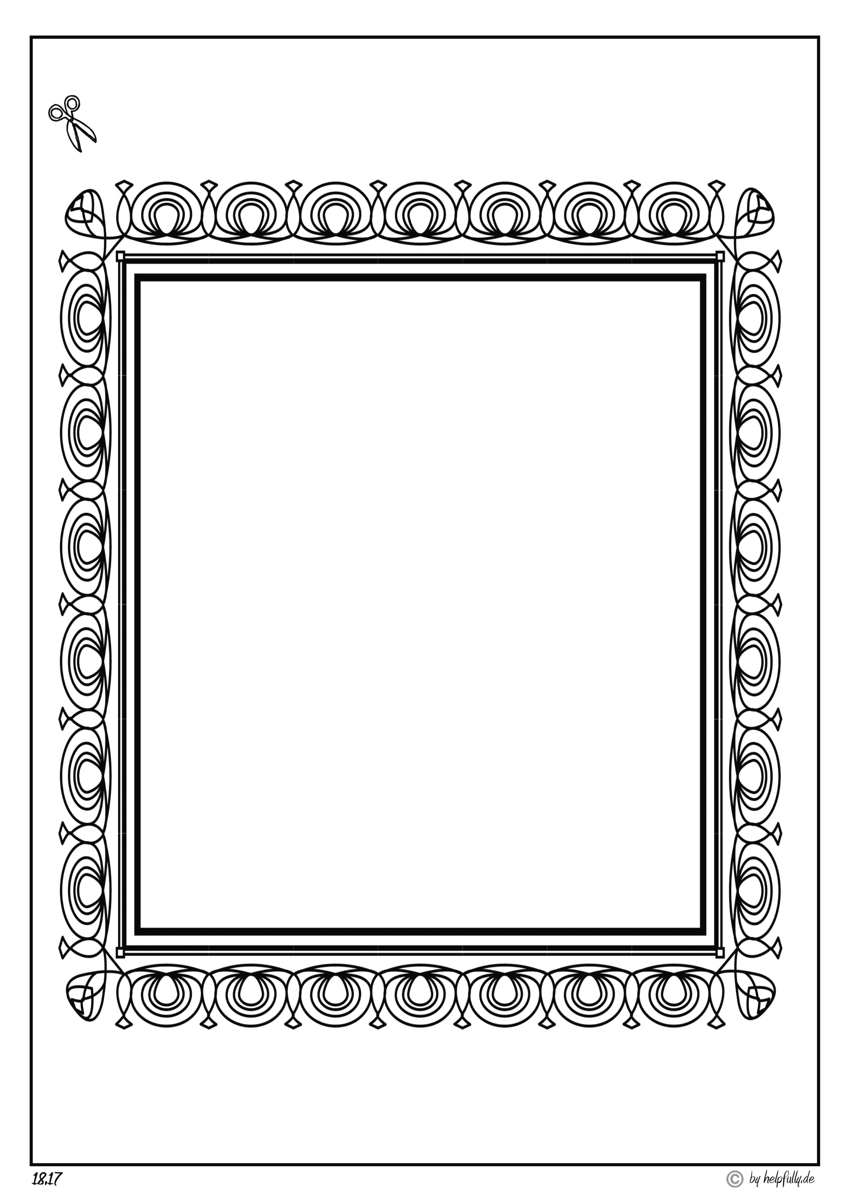 Papiervorlage Rahmen Sw Ii