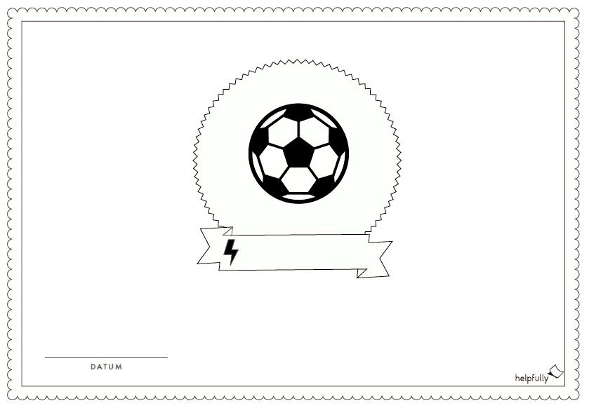 Urkunde Einladung Zum Ausmalen Fussball Vorlage 1