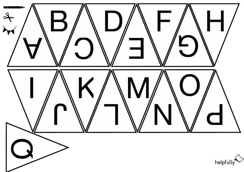 Kiddimalseite Wimpelkette Basteln 26 Buchstaben