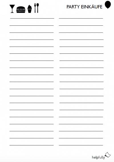 Einkaufsliste Vorlage Vorlagen Muster