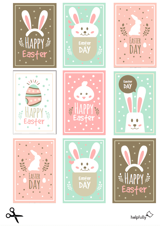 """osteretiketten """"happy easter"""" pastell pdf  helpfullyde"""