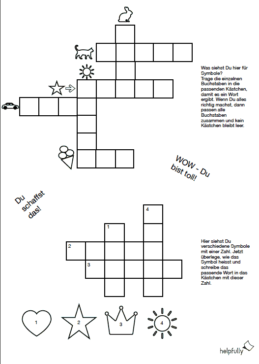 Kreuzworträtsel Vorlage Leer
