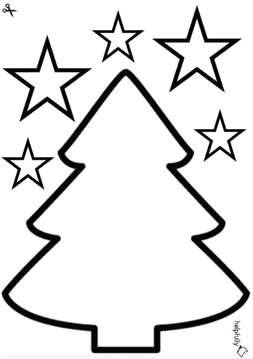 """großer tannenbaum """"blanko"""" zum ausschneiden weiß pdf"""